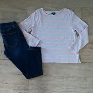 Gap Long-sleeve Striped Pullover